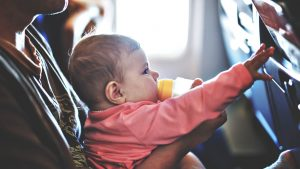 How to Bottle Feed Baby on a Plane