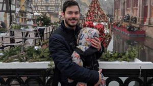 Wearing baby in BabyBjörn One Carrier